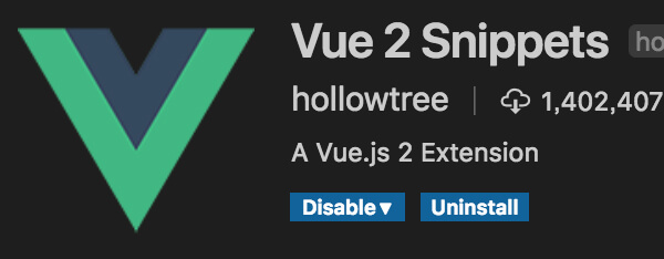 vue2snippets